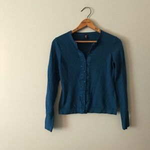 GAP Soft Cardigan with Covered Buttons
